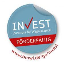 Logo Referenz: BMWI Invest – Zuschuss für Wagniskapital – förderfähig